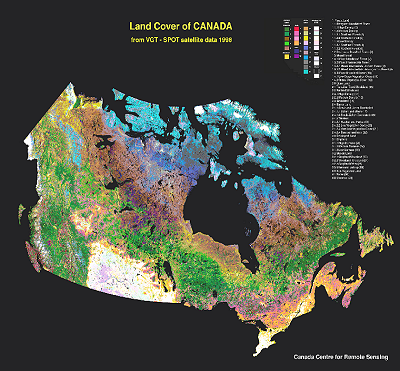 Vegetation cover map of Canada